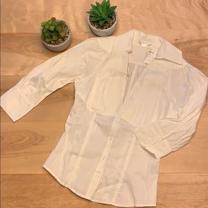 2/$15 Charlotte Russe White Button down Blouse